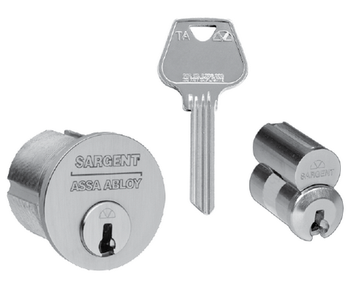 Sargent Degree mortise cylinder, key and IC core