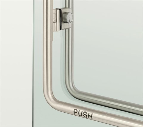 ASSA Abloy exit device for glass doors