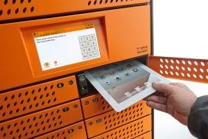 Storing a tablet in a Traka locker