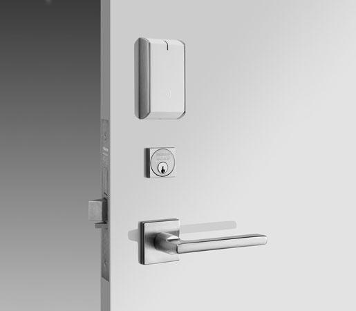 IN120 Wi-Fi lock with white cardreader