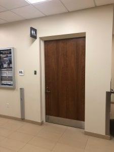 Universal washroom door - exterior
