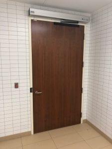 Universal washroom door - interior