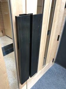 Custom bronze door pulls