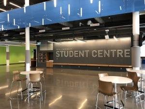 York University Student Centre sign