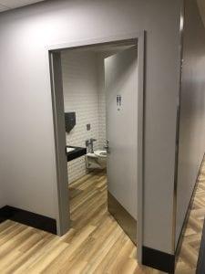 Washroom door at Scotiabank Commons