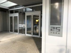Telus Tower - exterior doors
