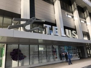 Exterior Sign at Telus Tower