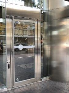 18Y - Exterior stainless steel door