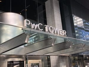 PwC Tower - exterior sign