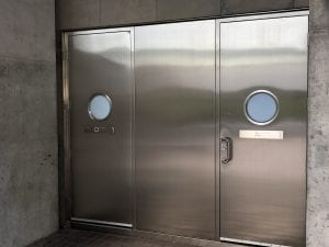 Stainless Steel doors with round lites