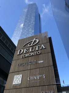 Delta Hotel Tower and Sign