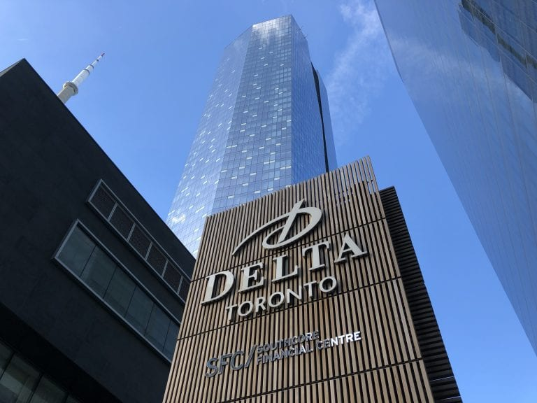 Delta Hotel with sign
