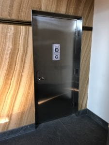 One York - Stainless Stair Door