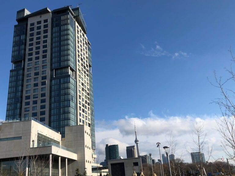Hotel X with skyline