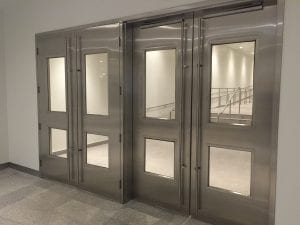 Stainless steel PATH doors
