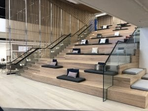 Atrium seating at LoyaltyOne