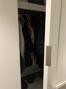 Mockett edge pull on closet door