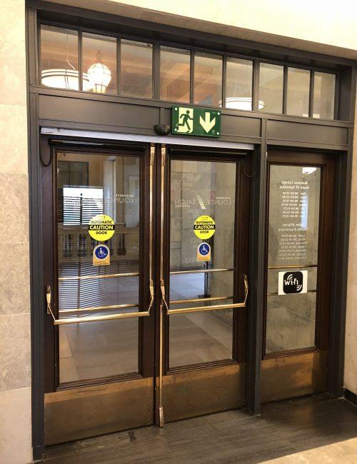 VIA Rail Business Lounge doors at Union Station